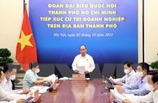 Chủ tịch nước Nguyễn Xuân Phúc tiếp xúc cử tri doanh nghiệp TP.HCM
