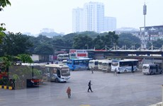 Sau 1 tuần hoạt động trở lại, các bến xe ở Hà Nội vẫn vắng khách