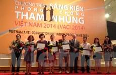 19 đề án nhận giải Sáng kiến phòng chống tham nhũng 2014