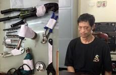 Hà Nội: Bắt đối tượng đánh ôtô chở đồ nghề đi cuỗm két sắt