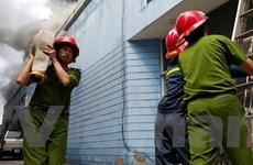 [Photo] Hiện trường vụ cháy lớn tại Công ty Xuất khẩu Hồng Hà