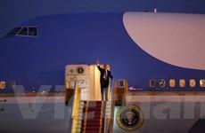 [Photo] Hình ảnh đầu tiên của Tổng thống Hoa Kỳ Donald Trump ở Hà Nội