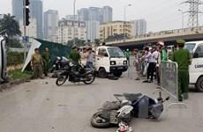 Hà Nội: 'Xe điên' đâm hàng loạt xe máy, nhiều người bị thương