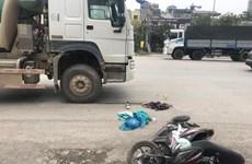 Hà Nội: Một thí sinh bị gãy chân do xe bồn đâm từ phía sau