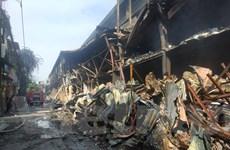 [Photo] Kho Rạng Đông tan hoang, đổ nát sau đám cháy kinh hoàng