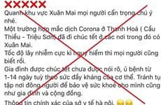 Hà Nội: Tung tin thất thiệt về corona, 9X bị phạt 10 triệu đồng