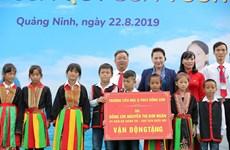 Quảng Ninh: Tặng trường mới và hàng chục ngàn ly sữa cho học sinh