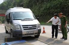 Bắt đối tượng lái ôtô đâm vào trạm kiểm tra tải trọng xe