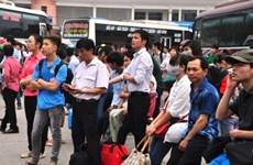 Lượng hành khách rời khỏi Thành phố Hồ Chí Minh tăng mạnh