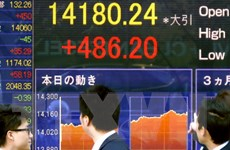 Chứng khoán Nhật Bản tăng lên mức cao nhất trong gần 2 tháng