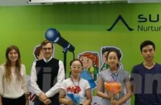 Học sinh trung học cơ sở Hà Nội trổ tài hùng biện tiếng Anh
