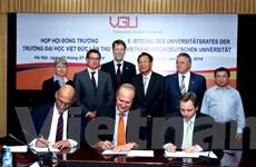 Thỏa thuận hợp tác giữa doanh nghiệp Đức với đại học Việt-Đức