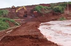 Giải pháp khắc phục sự cố sạt lở đập hồ chứa thải quặng