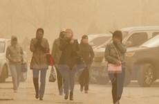 Trận bão cát hiếm thấy tấn công 11 tỉnh thành Bắc Trung Quốc