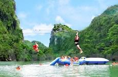 Hệ thống đu dây tự do tour Sông Chày-Hang Tối dài nhất Việt Nam
