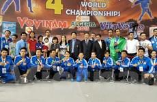 Việt Nam vô địch giải Vovinam thế giới lần thứ tư liên tiếp