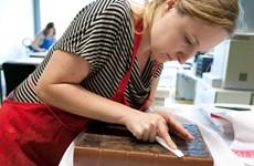 Chuyên gia quốc tế hỗ trợ Việt Nam tập huấn phục chế tranh giấy