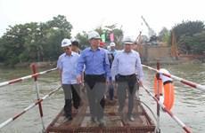 Đảm bảo hoàn thành xây dựng cầu Ghềnh trước ngày 30/6