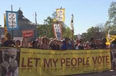 Cử tri Mỹ biểu tình phản đối tiền bạc chi phối nền chính trị