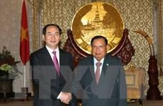 Báo chí Lào đưa đậm thông tin về chuyến thăm của Chủ tịch nước