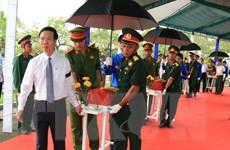 An táng hài cốt liệt sỹ hy sinh trong trận đánh sân bay Biên Hòa 1968