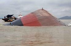 Nghệ An triển khai phương án trục vớt tàu VTB 26 bị chìm do bão