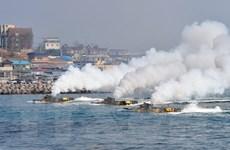 Lính thủy đánh bộ Hàn Quốc tập trận lớn bảo vệ đảo phía Đông