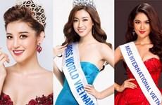 Dàn hoa hậu, á hậu Việt Nam nô nức dự các cuộc thi quốc tế
