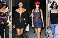 """Street style """"gây thương nhớ"""" của Bella Hadid dự tuần lễ thời trang"""