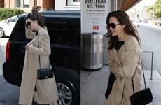 Angelina Jolie thanh lịch đậm chất Pháp với túi xách của Saint Laurent