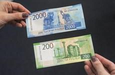 Nga lưu hành đồng tiền mới có in hình bán đảo Crimea