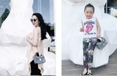 Linh Nga và con gái Luna đồng điệu với những hình ảnh ngọt ngào
