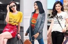 Mỹ nhân Việt khoe street style chất lừ với áo phông hàng hiệu