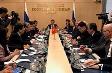 Việt Nam muốn thúc đẩy hợp tác trên mọi lĩnh vực với Liên bang Nga