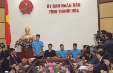 Thanh Hóa khen thưởng 3 cầu thủ góp sức vào thành công của đội U23