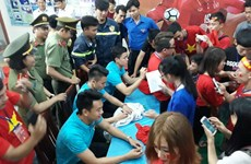 Cầu thủ Hà Nội T&T tham gia tuyển U23 giao lưu người hâm mộ Ninh Thuận