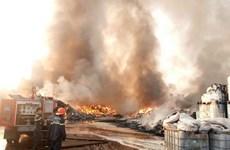 Cháy lớn tại xưởng chứa phế liệu rộng hơn 2ha thiêu rụi nhiều tài sản