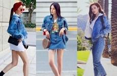 Trang phục denim phủ sóng street style của mỹ nhân Việt tuần qua
