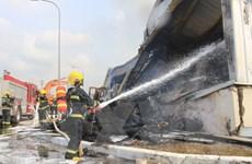 Trung Quốc hỗ trợ chữa cháy Nhà máy sản xuất xơ sợi tại Quảng Ninh