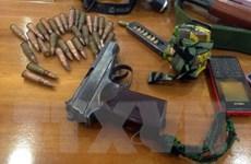 Long An tạm giữ một đối tượng vận chuyển trái phép vũ khí quân dụng