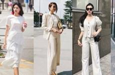 """Mỹ nhân Việt """"ướp lạnh"""" ngày hè với street style ngập tràn sắc trắng"""