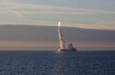 Nga phóng tên lửa đạn đạo liên lục địa Bulava từ tàu ngầm hạt nhân