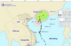 Trong 24 giờ tới, bão số 2 di chuyển chậm theo hướng Bắc Đông Bắc