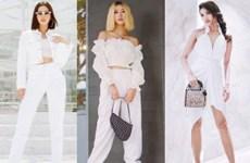 White-on-white: Từ khóa hot nhất tuần chinh phục quý cô thời trang
