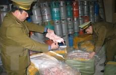 Lạng Sơn thu giữ 2 tấn nầm lợn nhập lậu từ Trung Quốc