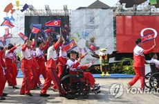 Đoàn Triều Tiên gia nhập làng vận động viên Asian Para Games 2018