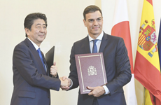 Nhật Bản và Tây Ban Nha nhất trí thúc đẩy hợp tác kinh tế, an ninh