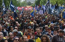 150.000 công nhân biểu tình gây tê liệt giao thông tại Australia