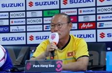 """HLV Park Hang-seo thừa nhận """"trận mở màn là không dễ dàng"""""""