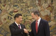 Chủ tịch Trung Quốc gặp Quốc vương Tây Ban Nha nhằm củng cố quan hệ